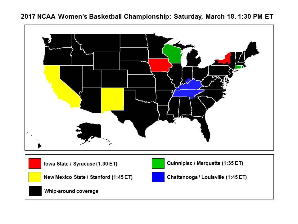 ESPN television coverage map