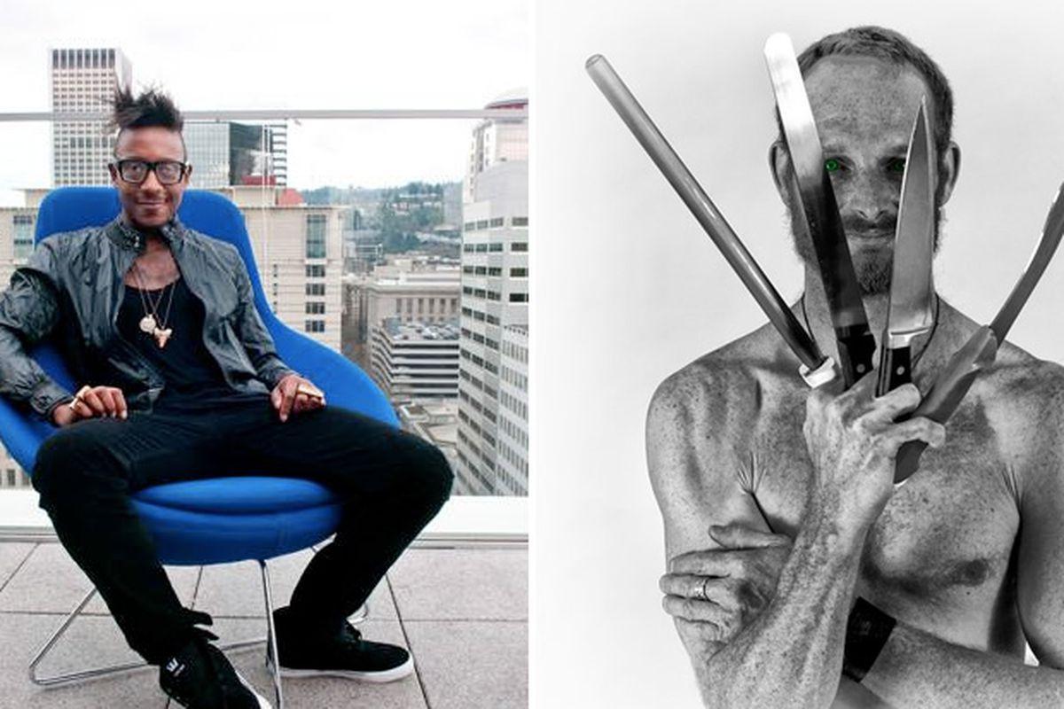 Left: Greg Gourdet (Departure, PDX) [Photo: Dina Avila]; Right: Kurt Ramborger (ViUDA Bistro, Buda, TX)]
