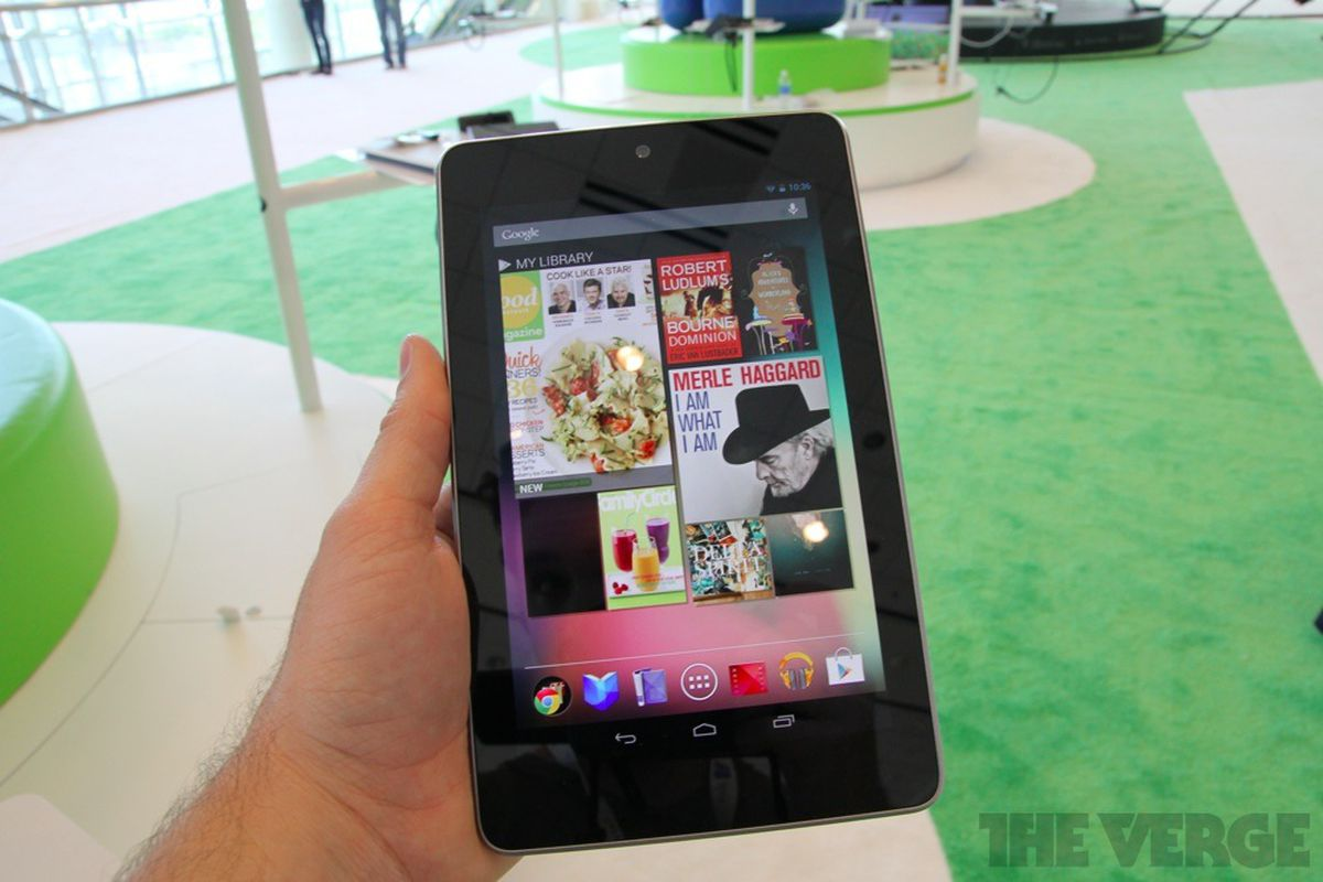 Google Nexus 7 Tablet From Asus Hands On Video And Photos The Verge