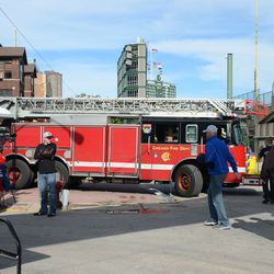 5:08 p.m. Truck 22 pulling out -