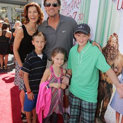 """Kevin and Sam Sorbo and family seen at Warner Bros. world premiere screening of """"The Wizard of Oz"""" in IMAX 3D on Sunday, Sep, 15, 2013, in Los Angeles. and the grand opening of the newly converted TCL Chinese Theatre IMAX in Hollywood, the very site of the film's 1939 Hollywood premiere. Kevin and Sam Sorbo are the celebrity ambassadors for the upcoming Park City International Film Festival."""