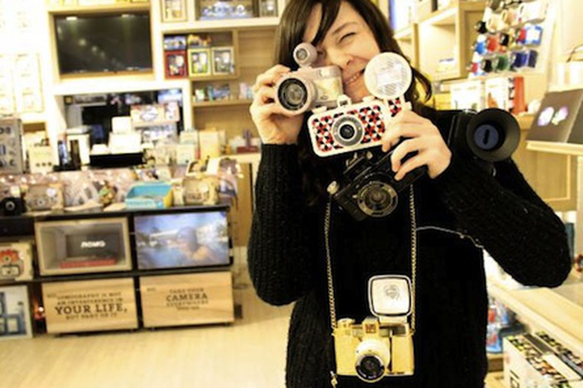 """Photo: <a href=""""http://www.dnainfo.com/chicago/20140116/wicker-park/store-manager-saves-analogue-camera-shop-from-closing-by-buying-it-herself"""">via</a> DNA Info"""