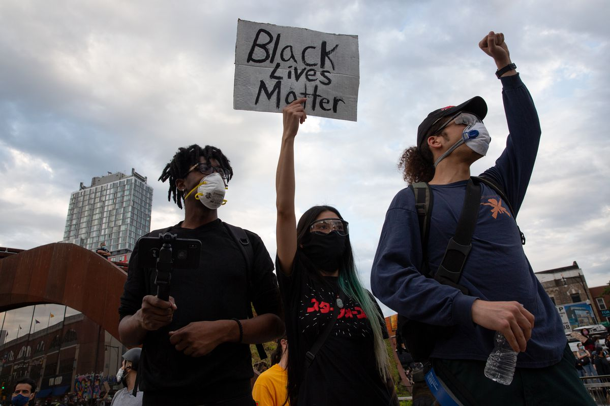 Thousands of protesters filled the streets around Barclays Center during continued police brutality protests, June 2, 2020.