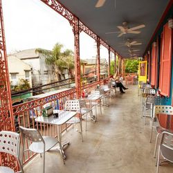 """1.) The <a href=""""http://nola.eater.com/tags/dat-dog-frenchmen"""">Dat Dog Frenchmen</a> balcony is a great spot for a beer and people watching."""