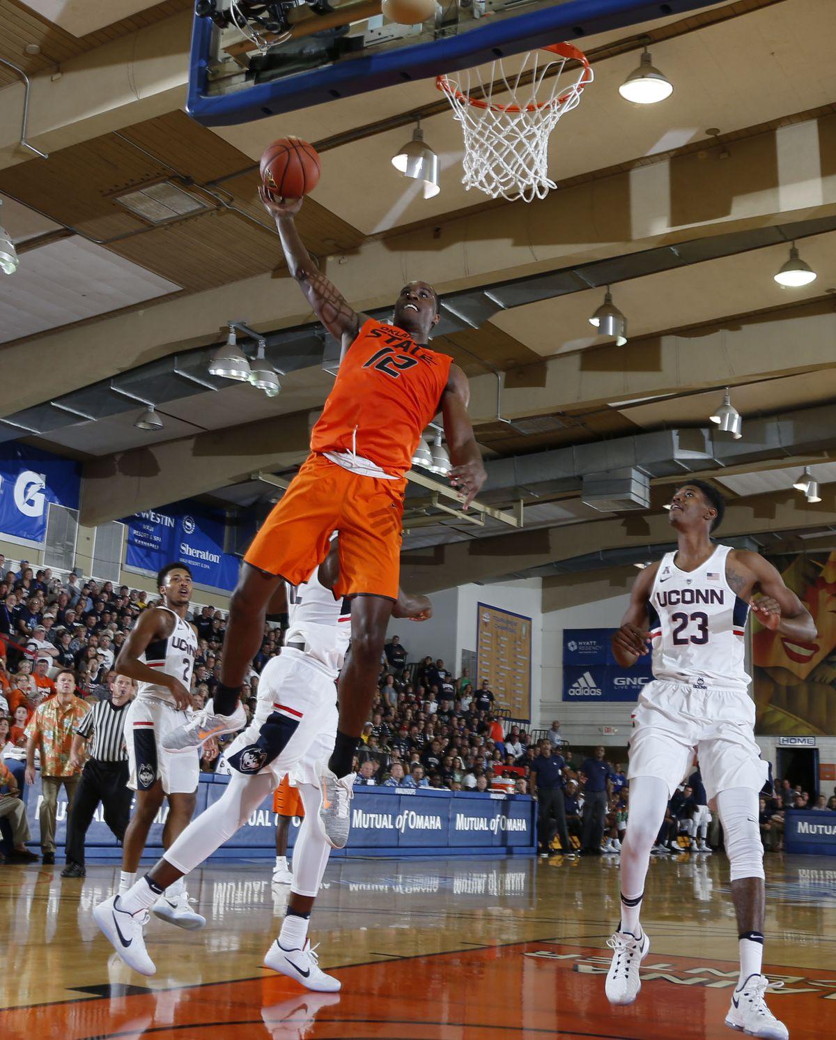 NCAA Basketball: Maui Invitational-Oklahoma State at Connecticut