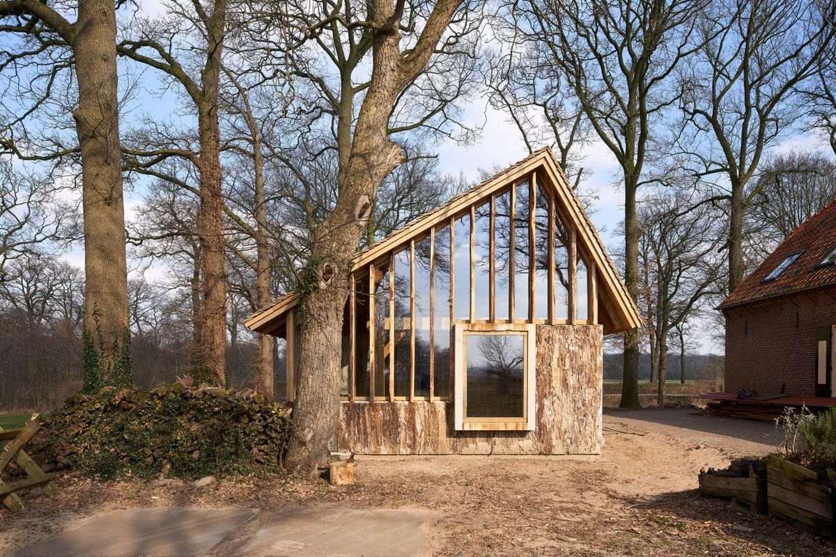 This Rustic Barn Was Made From Trees On Site Curbed