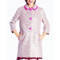 "<b>Kate Spade</b> Tweed Pierce Coat in pink, <a href=""http://www.katespade.com/tweed-pierce-coat/NJMU2287,en_US,pd.html"">$698</a>"