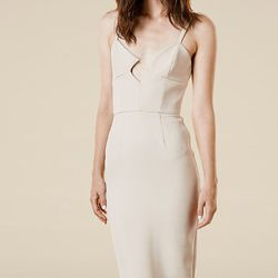 The nude pencil dress has never been so sexy.