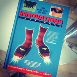 """Photo taken of """"The Very Best of the Innovations Catalogue"""" by Frances Berriman via Instagram."""