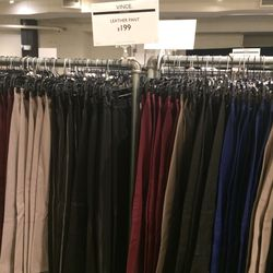 Leather pants, $199