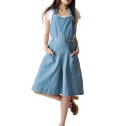 Maeven denim pinafore dress ($88)