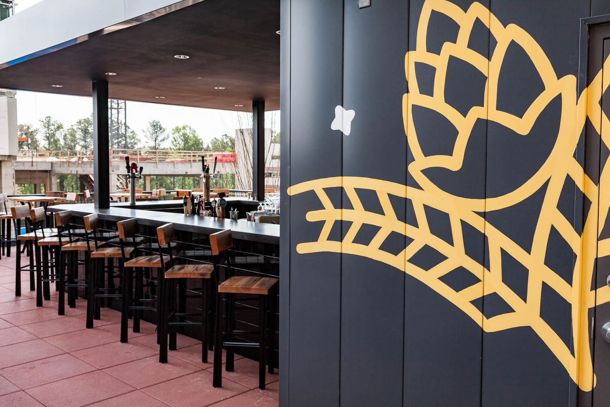 The open-air rooftop patio at Barleygarden.