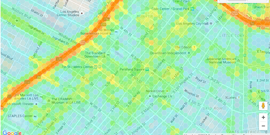 Mapping The Noise Levels At Every Point Around Los Angeles Curbed La