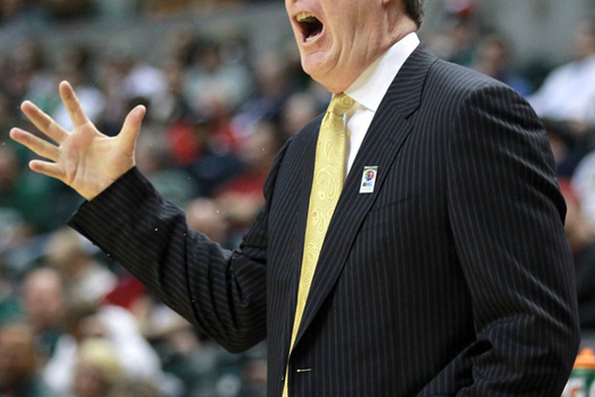 Fran McCaffery didn't have any trouble getting his team pumped up to play in the NIT  (Photo by Andy Lyons/Getty Images)