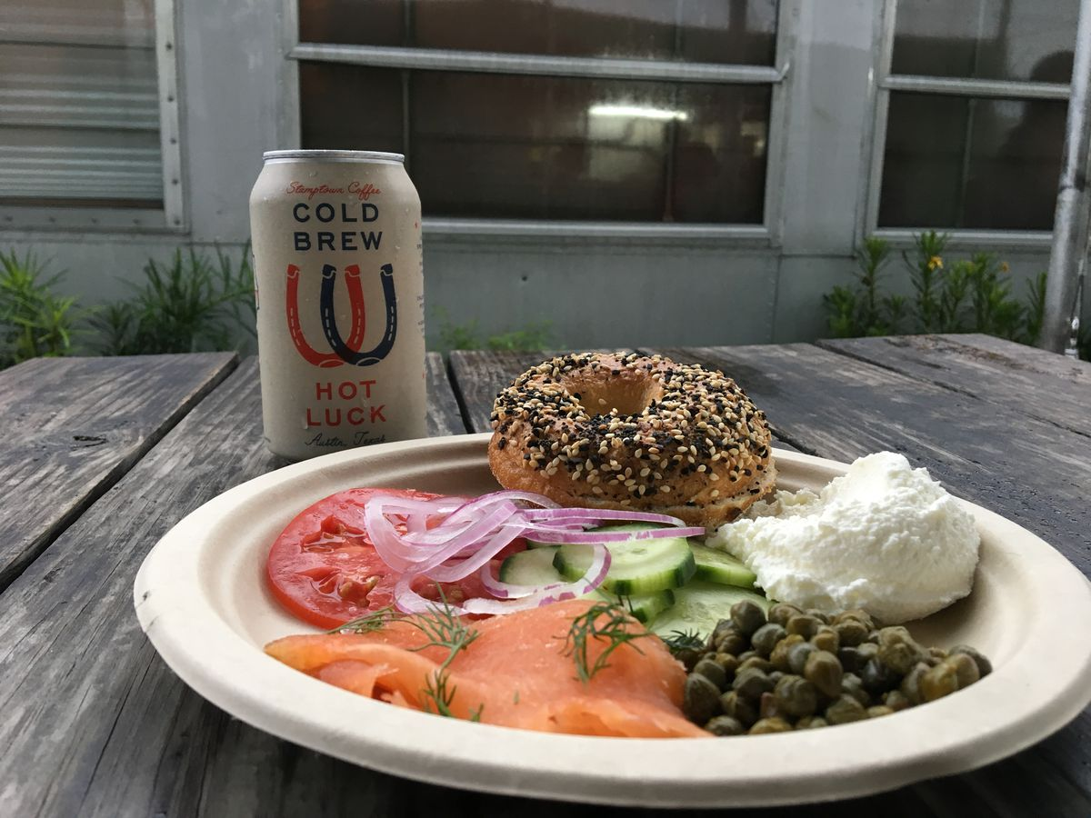 Alex Manley's bagel and lox