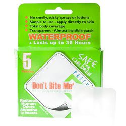 The DonI\u0301t Bite Me patch repels mosquitoes.