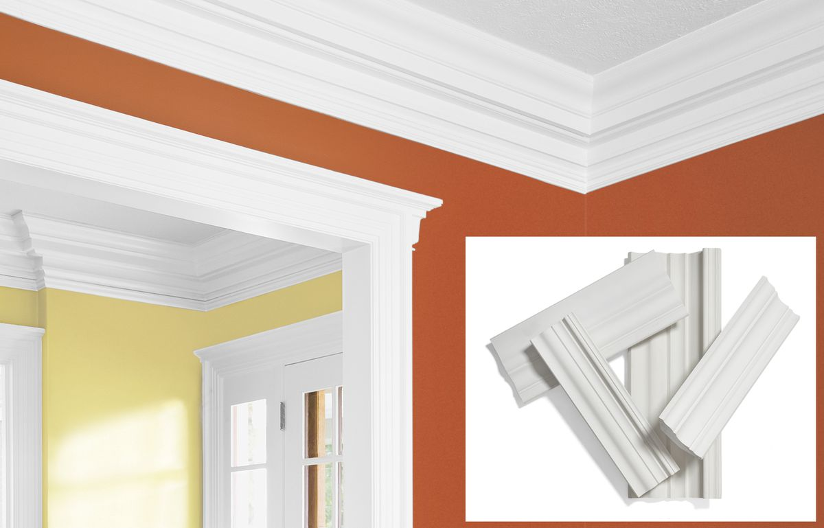 Crown Molding Made Out of Fiberglass And Acrylic Plaster