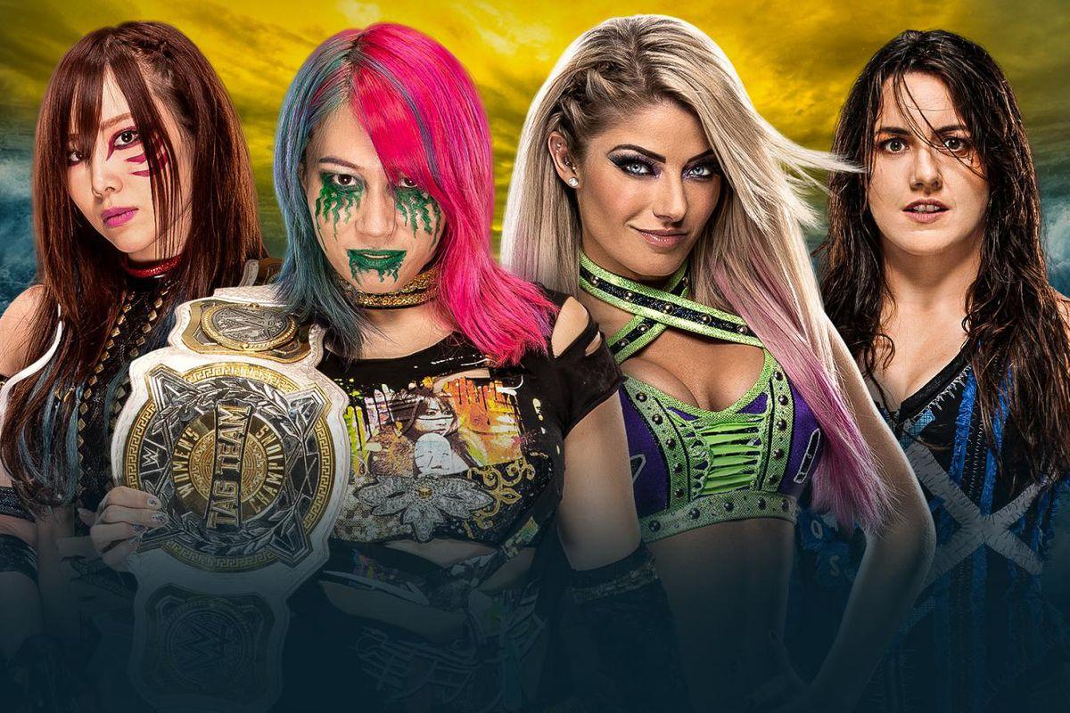 Match graphic for Kabuki Warriors vs. Alexa Bliss & Nikki Cross