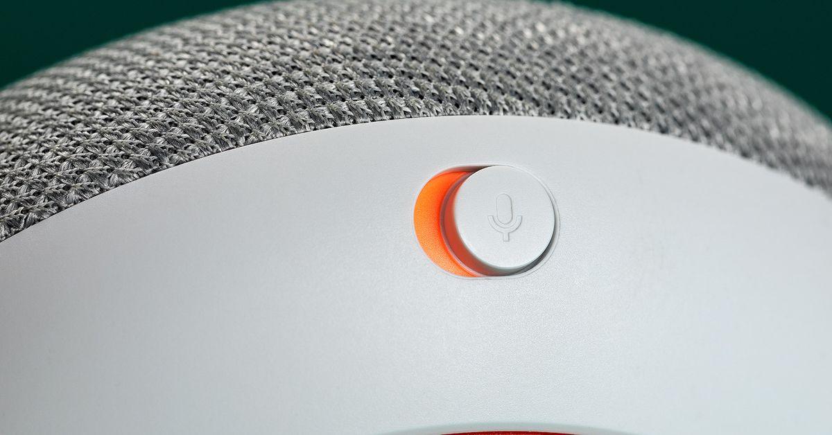 The Google Home Mini's mute switch makes privacy deliberate