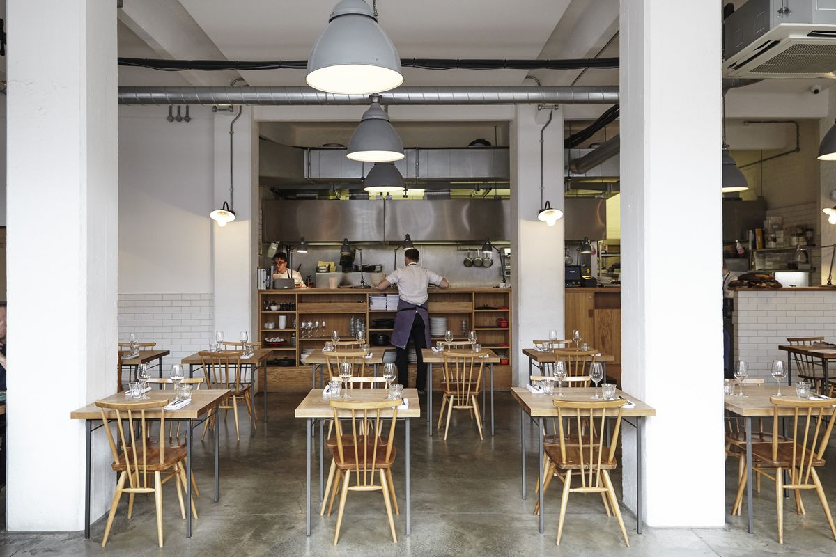 The dining room at Lyle's, in Shoreditch
