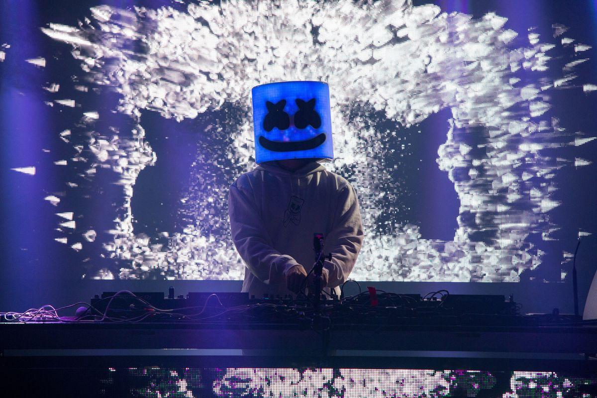 Marshmello performs during the KAOS Dayclub & Nightclub at Park City Live on Saturday, January 26, 2019, in Park City, Utah. (Photo by Barry Brecheisen/Invision for Park City Live/AP Images)