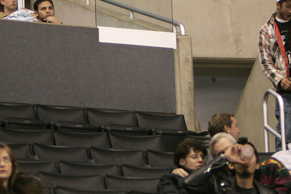 Photo of empty seats during recent game with Calgary Flames against the Kings in NHL action at the