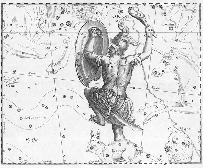 800px_Orion_constellation_Hevelius The Orionid meteor shower peaks this weekend. Here's how to watch.