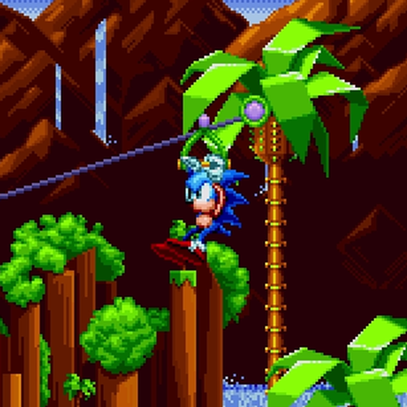 Watch Act 2 Of Sonic Mania S Green Hill Zone In Action Polygon