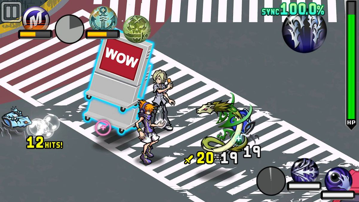 The World Ends With You: Final Remix's co-op mode.