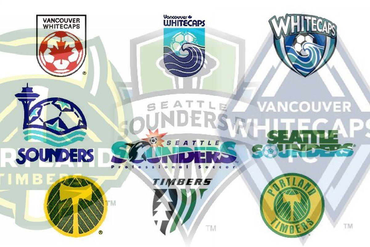 Cascadia Cup Crests Compilation courtesy of David Falk of www.goalseattle.com