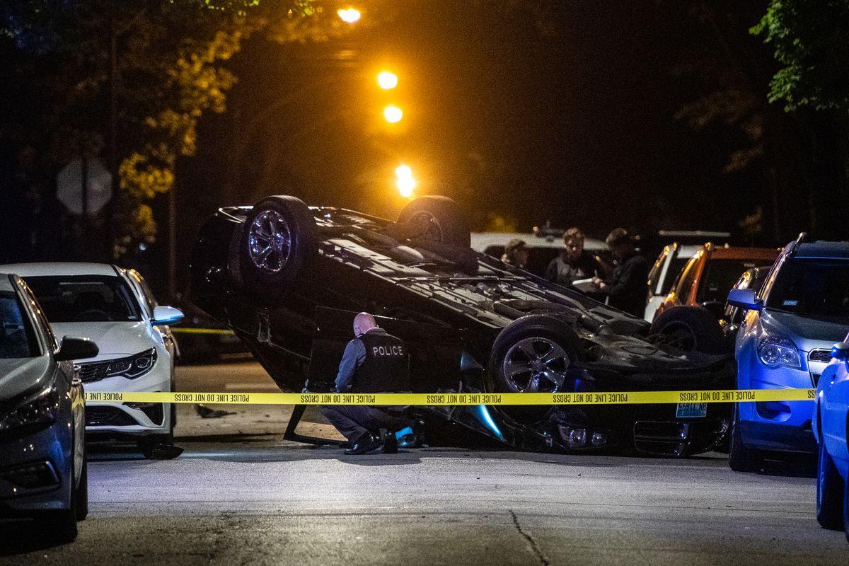 A man was found with a gunshot wound inside of a car.
