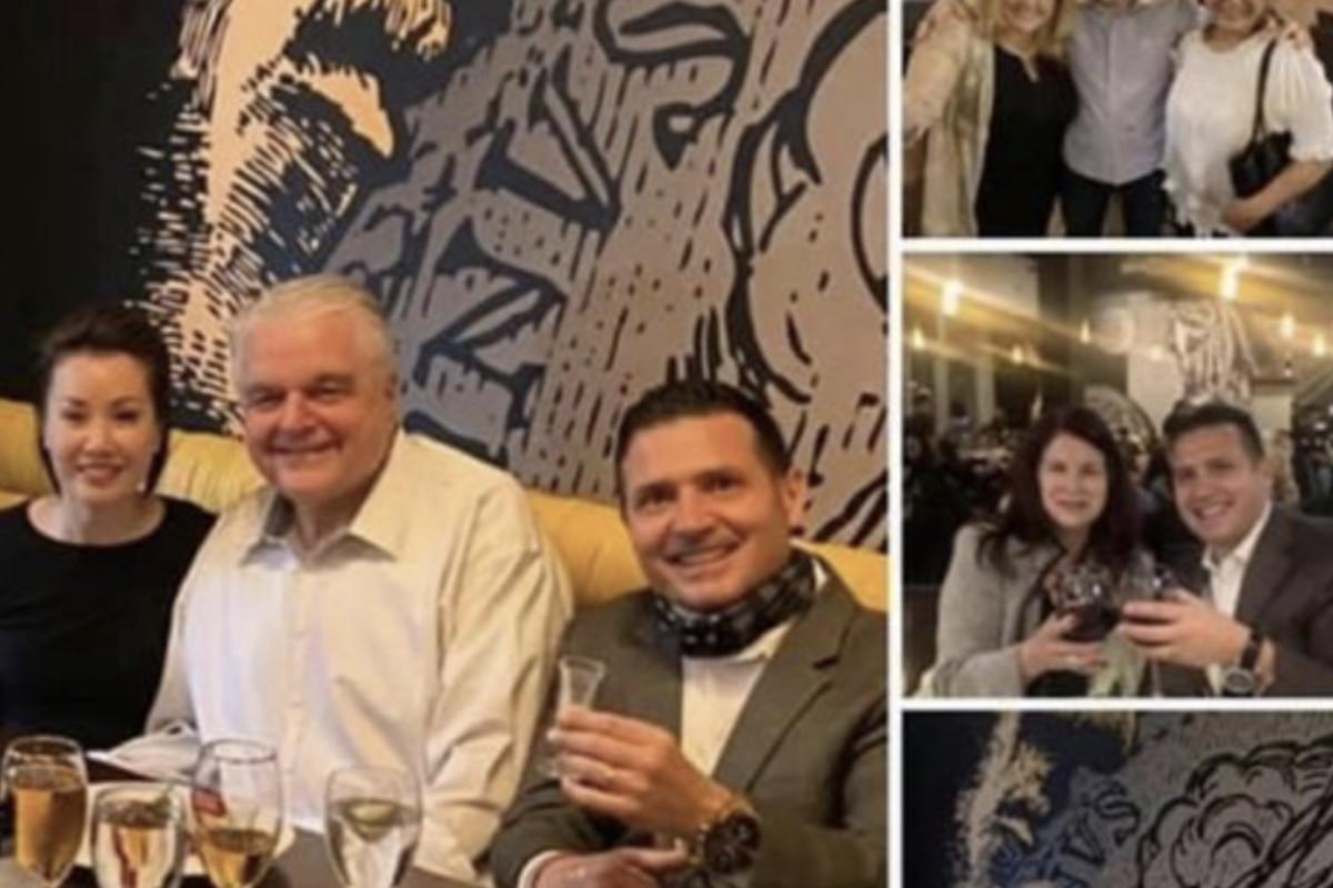 Top left: Nevada First Lady Kathy Sisolak and Gov. Steve Sisolak dine at Bella Vita.