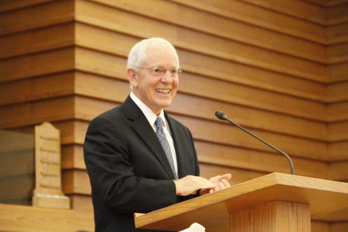Elder Marlin K. Jensen speaks at devotional of Mormon History Association Conference in this 2012 file photo.
