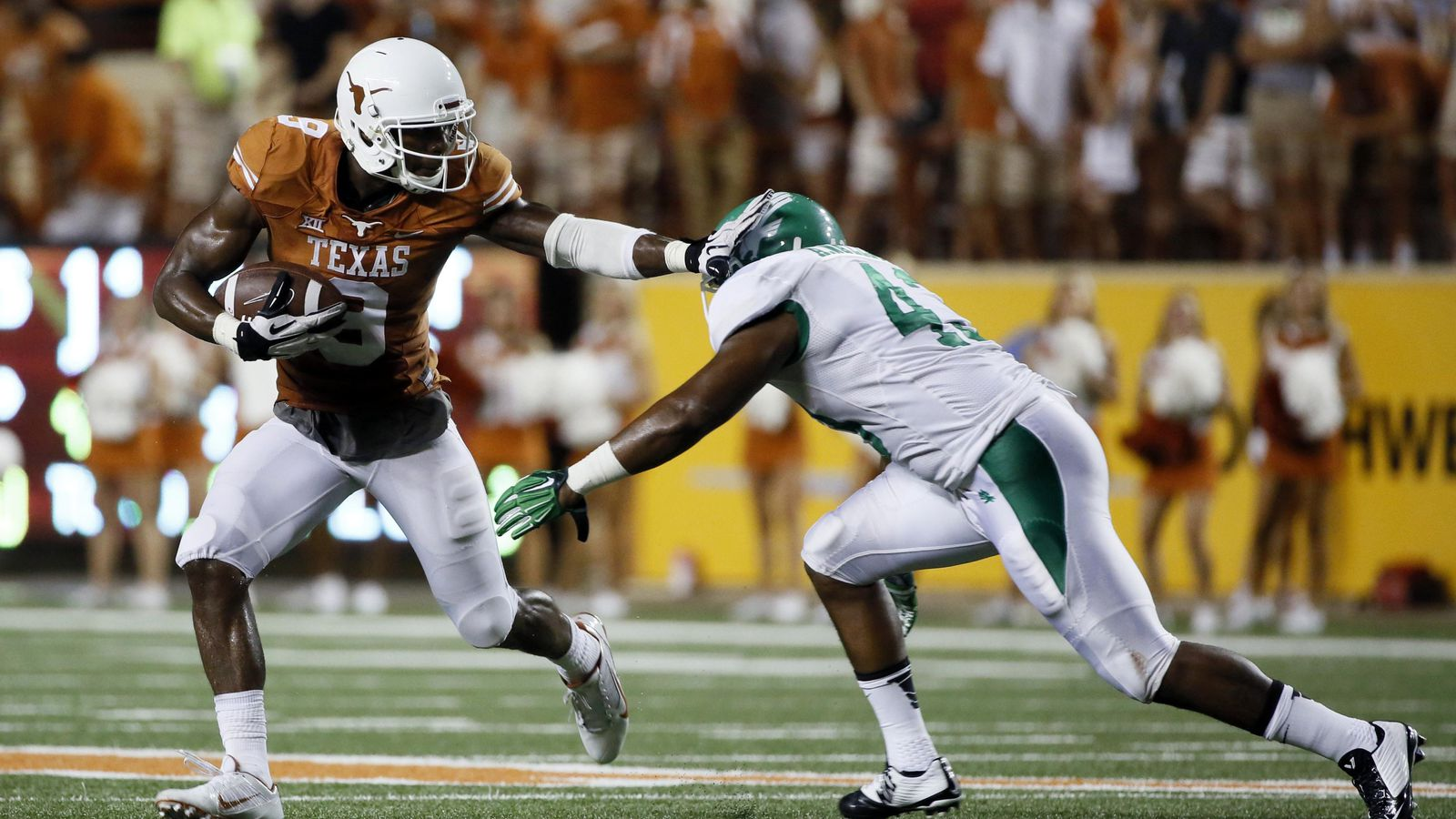 Get the latest Texas Longhorns news scores stats standings rumors and more from ESPN
