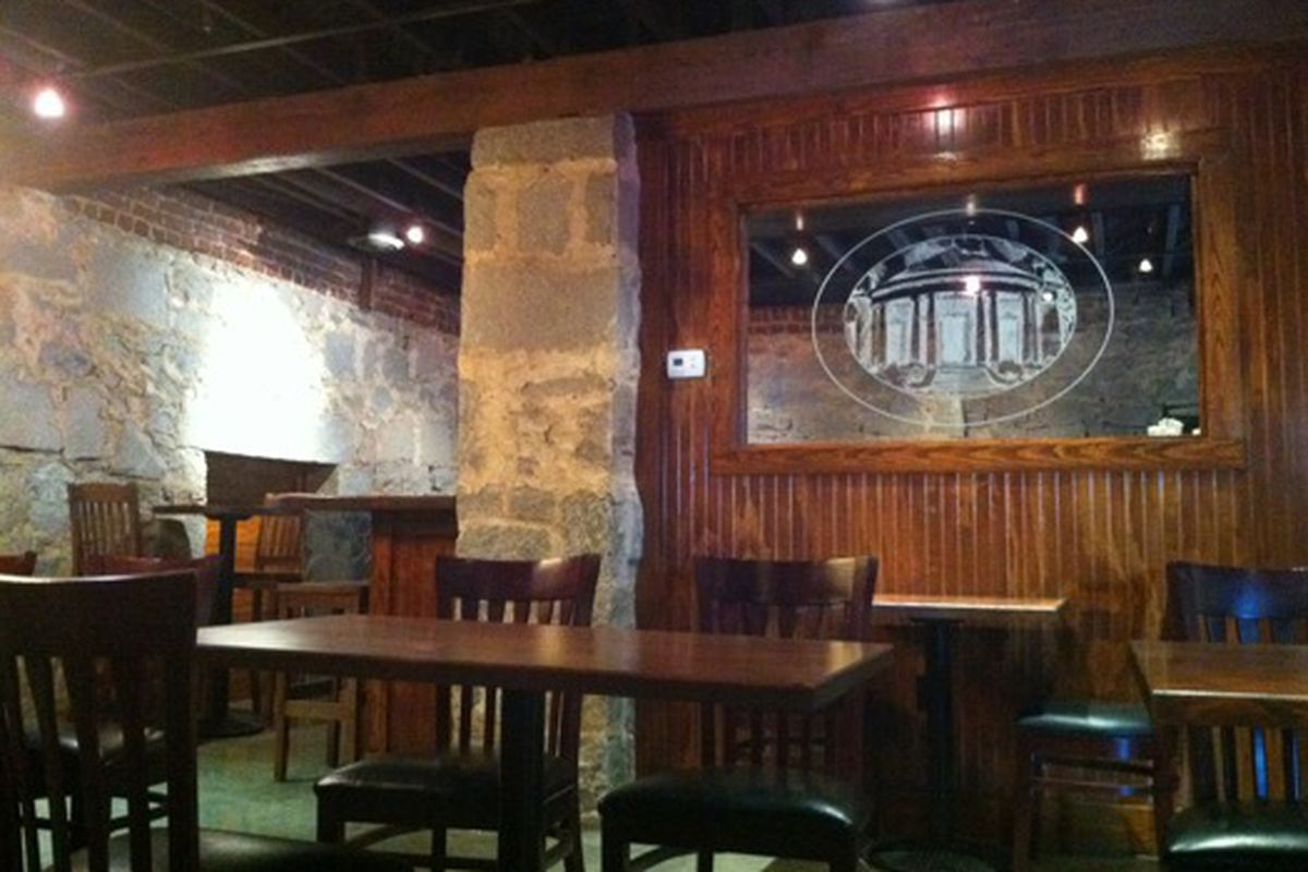 The dining room at The Wrecking Bar Brewpub.