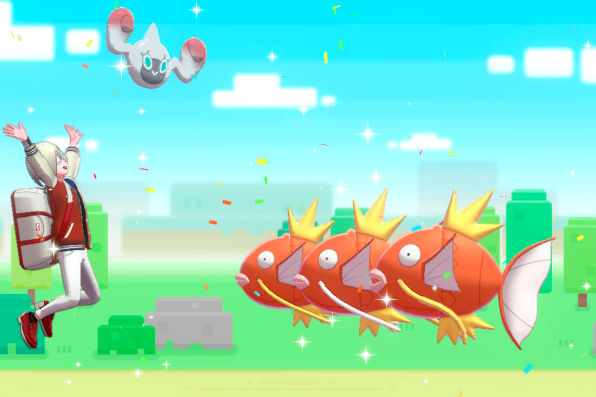 Three Magikarp coming back from their part-time jobs.