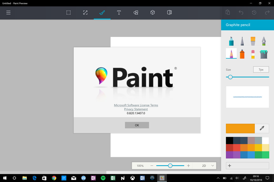 Here 39 s a first look at microsoft 39 s new paint app for for Microsoft paint download
