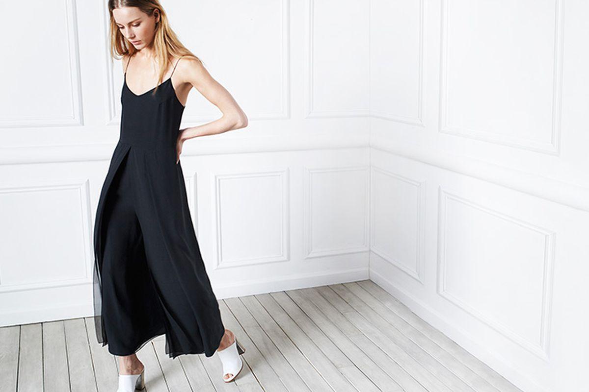 "Club Monaco collection Breena Silk jumpsuit, <a href=""http://www.clubmonaco.com/product/index.jsp?productId=33270856"">$495</a>"