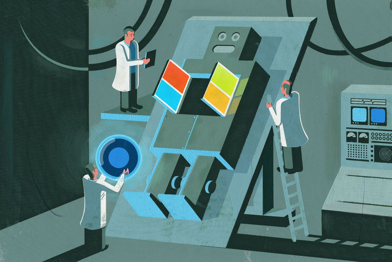 Exclusive Why Microsoft Is Betting Its Future On Ai The Verge Illustration Simple Series Circuit 3d Model Inside Satya Nadellas Plan To Outsmart Google