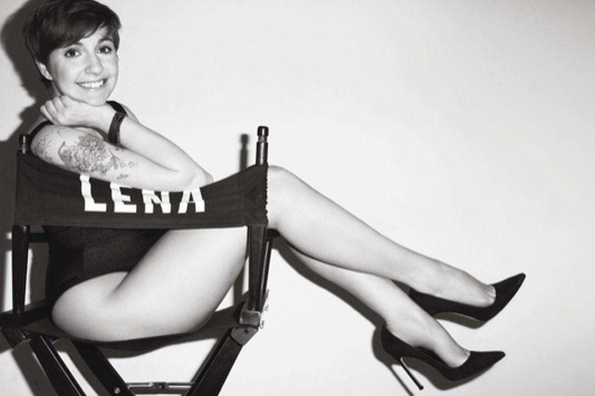 """Lena Dunham shot by Terry Richardson, via <a href=""""http://vmagazine.com/site/content/441/girl-power#!/1"""">V Mag</a>"""