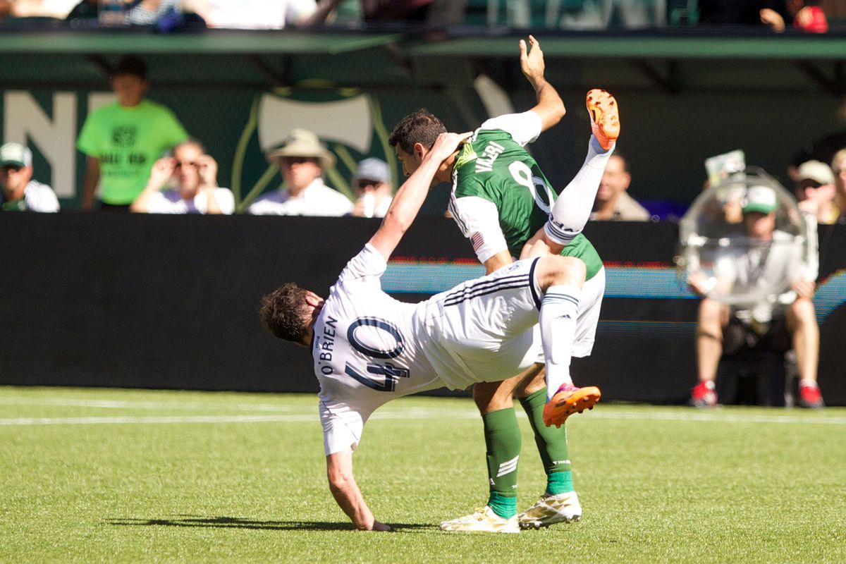 Help! We've fallen and we can't get up (maybe)! Vancouver's loss at Portland last weekend puts the 2014 playoff hopes in jeopardy.