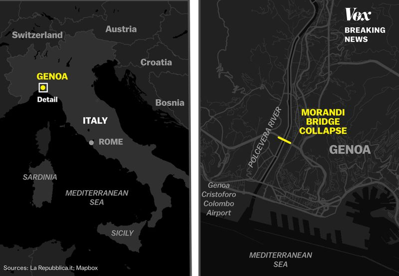 bridge_collapse_locator Photos: Italy's deadly bridge collapse kills dozens
