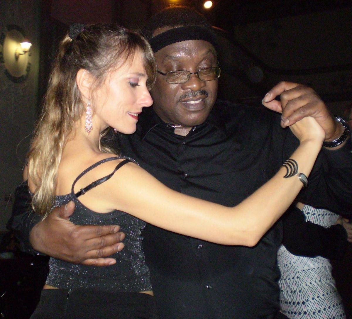 Leroy Hearon with tango instructor Andrea Monti.