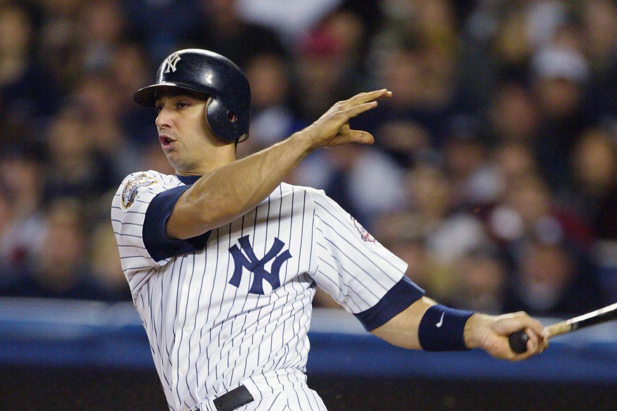 Jorge Posada swings