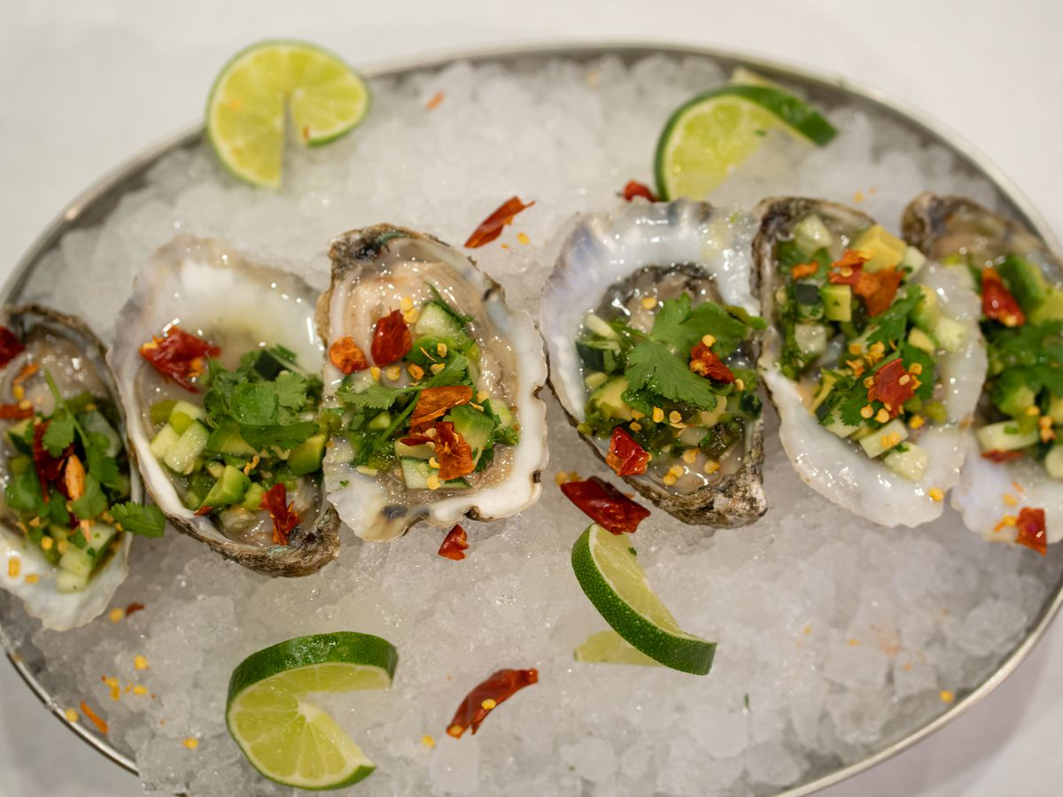 Chili lime oysters