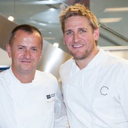 Venetian and Palazzo executive chef Olivier Dubreuil with Curtis Stone.