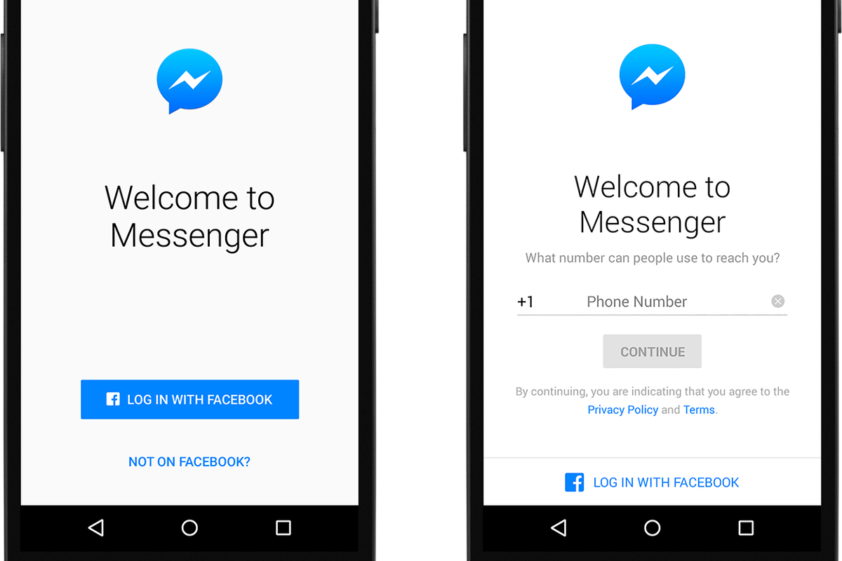 now you can sign up for facebook messenger without a facebook