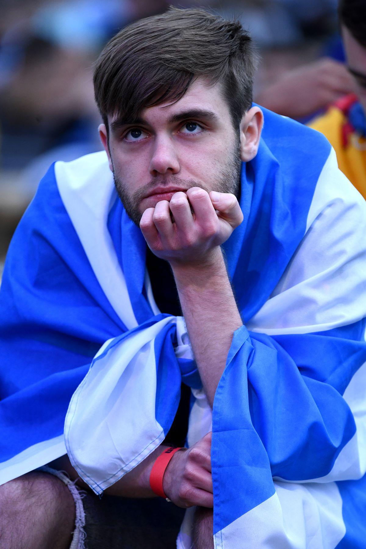 Scotland Football Fans Support Their Team In Euro 2020 Game Against Croatia
