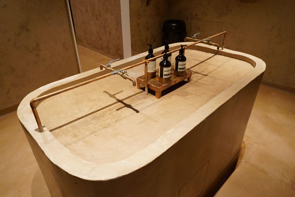 A custom made bathroom sink.