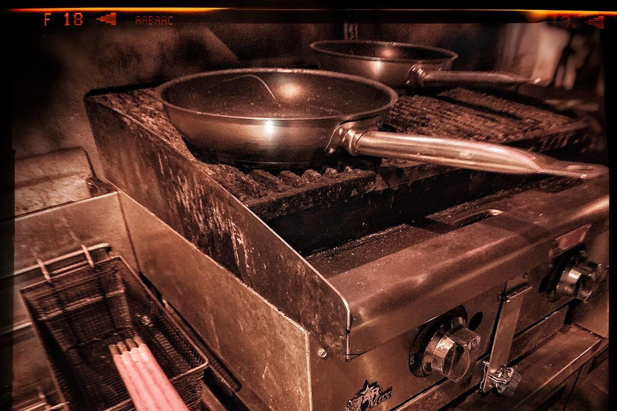 Dark and gritty restaurant equipment